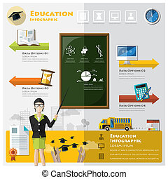 infographic, education, remise de diplomes, apprentissage