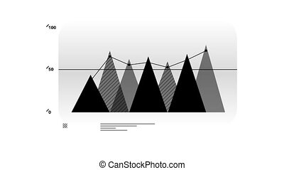 Infographic Element - Area Chart - Area Chart Animation is...
