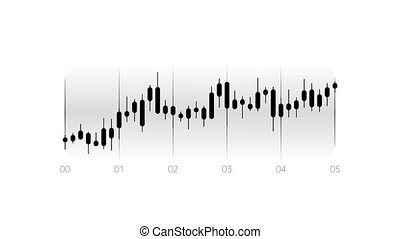 Candlestick Chart Animation is an infographic element on an alpha channel in monochrome color. It is easy to use and can be quickly added in to your presentations, slideshows and promo videos.