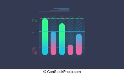 Column Chart Animation is an infographic element on an alpha channel in blue, green and pink color. It is easy to use and can be quickly added in to your presentations, slideshows and promo videos.