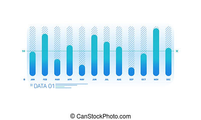 Column Chart Animation is an infographic element on an alpha channel in blue color. It is easy to use and can be quickly added in to your presentations, slideshows and promo videos.