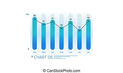 Infographic Element - Column Chart - Column Chart Animation...