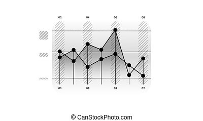 Line Chart Animation is an infographic element on an alpha channel in monochrome color. It is easy to use and can be quickly added in to your presentations, slideshows and promo videos.