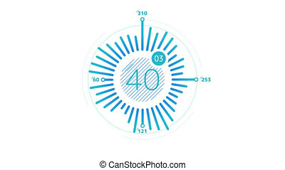 Infographic Element - Radial Chart - Radial Chart Animation...
