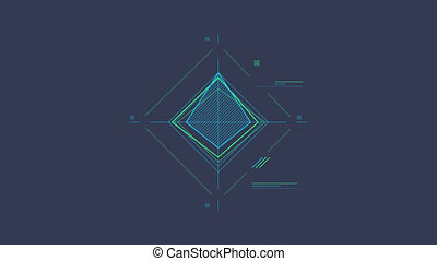 Rhombus Scheme is an infographic element on an alpha channel in blue, green and pink color. It is easy to use and can be quickly added in to your presentations, slideshows and promo videos.