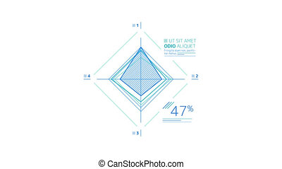 Rhombus Scheme is an infographic element on an alpha channel in blue color. It is easy to use and can be quickly added in to your presentations, slideshows and promo videos.