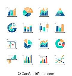 infographic, elementara, data, affär, marknaden