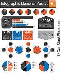 infographic, elemente, satz, v.02