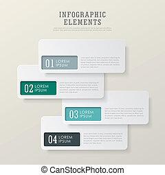 infographic, elementi, astratto, moderno, etichetta, carta