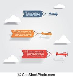 infographic, elementi, icons., vettore, disegno, sagoma