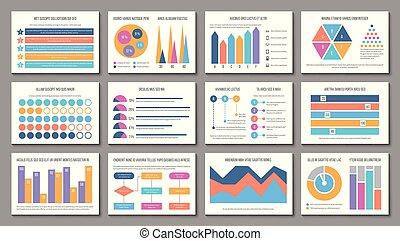 infographic, elementi, report., affari, multiuso, presentazione, marketing, grafico, grafico, layout., vettore, infographics, finanza corporativa