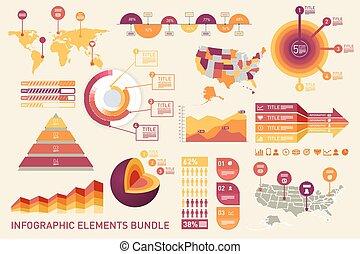 infographic, elementos