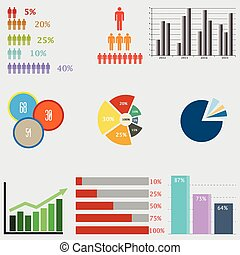 Infographic Elements. business diag - set of charts and...