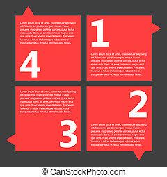 Infographic Elements. - Flat Infographic Elements. Vector...
