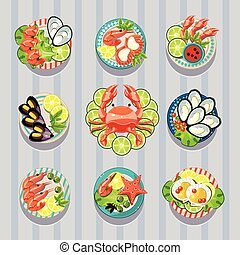 Infographic Elements Food Business Seafood