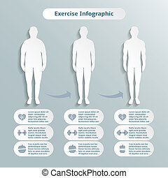 Infographic elements for men fitness
