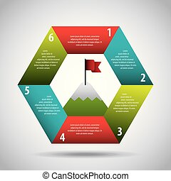 infographic elements image - infographic colored hexagon...
