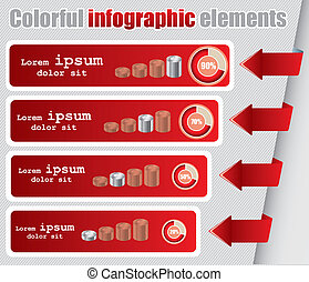 Infographic elements in vector format