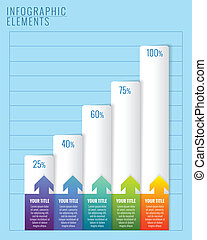 Infographic elements. Modern business steps to success chart