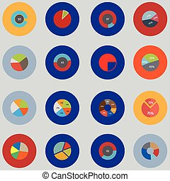 Infographic elements. The set is round . Items for business, statistics and reports.