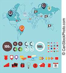 Infographic elements vector collection