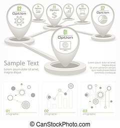 Infographic elements with pointer