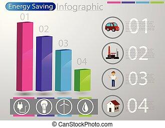 infographic, energia, conceito, uso, esperto