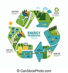Infographic energy template design. protect world energy ...