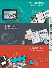 infographic, ensemble, arrière-plans, business