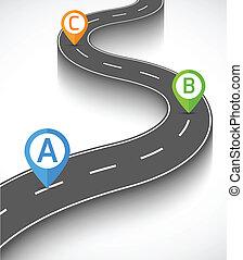 infographic, estrada