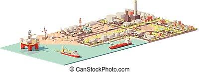 infographic, extracción, aceite, vector, consumo