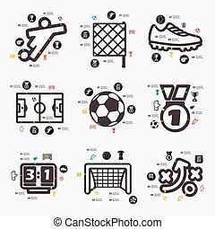 infographic, fútbol
