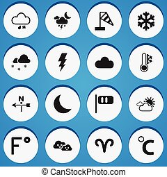 infographic, fahrenheit, ui, set, essere, icons., lattina, ...