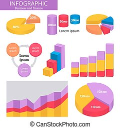 infographic., finanças, negócio