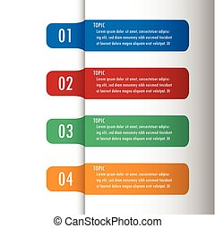 Infographic five option vector illustration