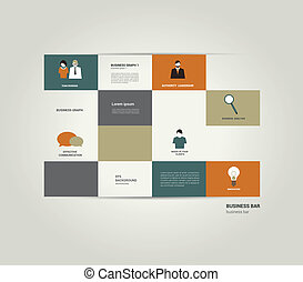 Infographic flat bar. Simply editable sheet diagram. Vector ...
