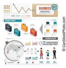 infographic, fogalom, ügy, vektor, tervezés, il, sablon, világ