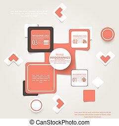 infographic, fond, illustration, résumé, contenu, vecteur, endroit, gabarit, carrés, ton