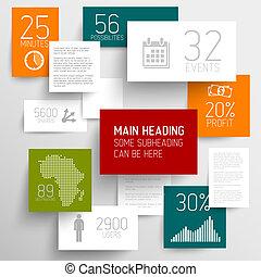infographic, fond, résumé, illustration, vecteur, /, gabarit, rectangles