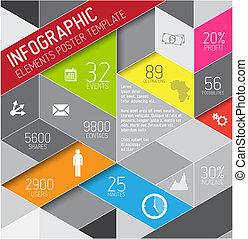 infographic, fond, résumé, illustration, vecteur, /, gabarit, triangles