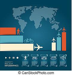 infographic, forgalom, vektor, állhatatos