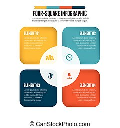 infographic, four-square