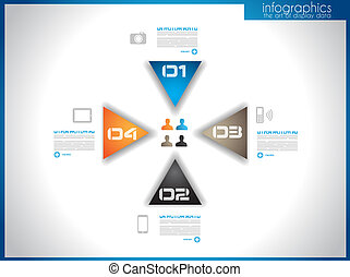 infographic, gabarit, pour, statistique, données, visualisation