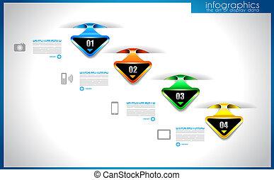 infographic, gabarit, pour, statistique, données, visualization.