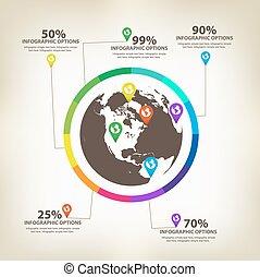 infographic, global, éléments conception