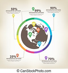 Infographic global Design Elements