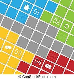 infographic, grafické pozadí, čtverhran, šablona