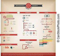 infographic, grande, vettore, set, elemento