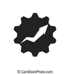 infographic, graphique, engrenage, vecteur, flèche, icon., données