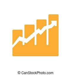 infographic, graphique, vecteur, flèche, icon., design.
